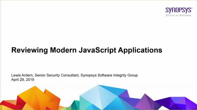 Reviewing Moden JavaScript Application