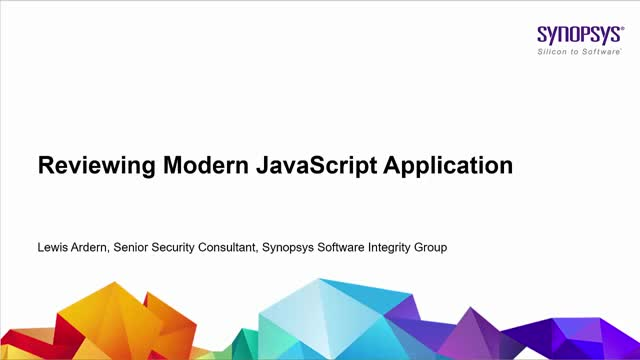 Reviewing Modern JavaScript Applications