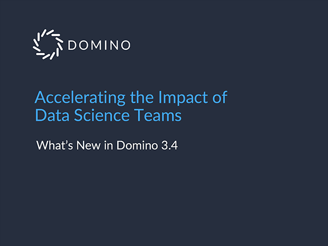 Accelerating the Impact of Data Science Teams