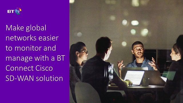Make global networks easier to monitor and manage with a BT Connect Cisco SD-WAN