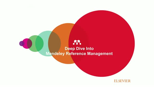 Introduction to Mendeley for Reference Management