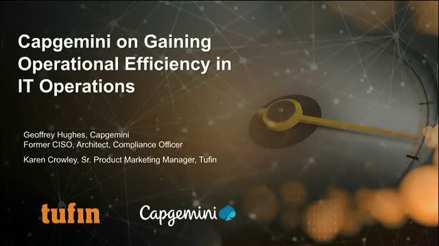 Webinar: Capgemini talks Gaining Operational Efficiency in Network Operations