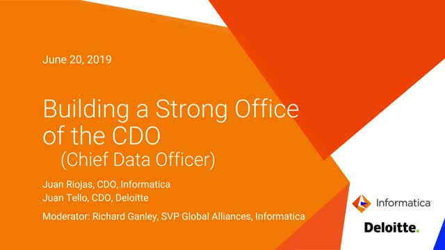 Building a Strong Office of the CDO