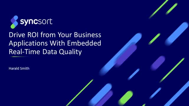 Drive ROI from your Business Applications with Embedded Real-time Data Quality