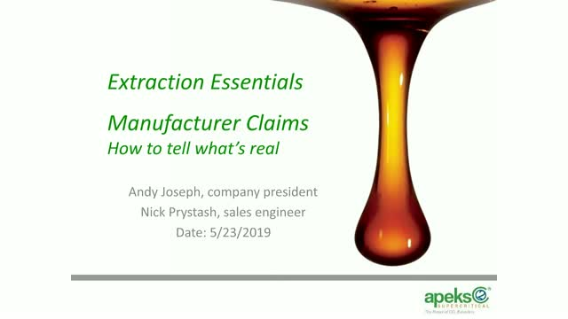 Manufacturer Claims: Q&A with Andy Joseph