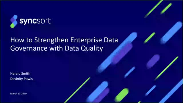 How to Strengthen Enterprise Data Governance with Data Quality