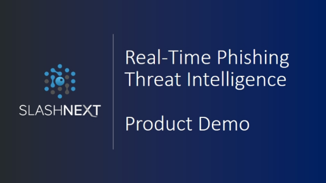 [Live Demo] Real-Time Phishing Threat Intelligence