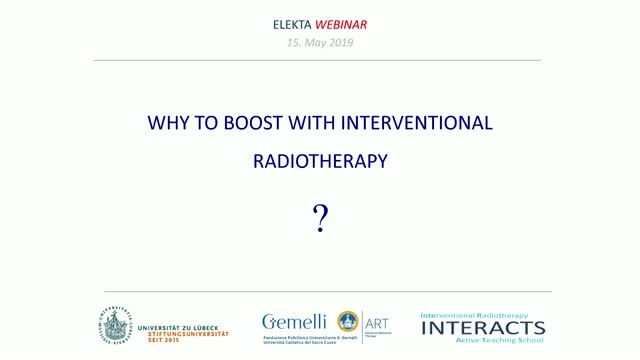 Why to boost with interventional radiotherapy