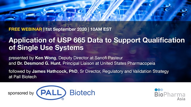 Application of USP 665 data to support qualification of single use systems