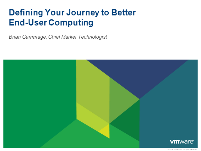 Defining Your Journey to Better End-User Computing