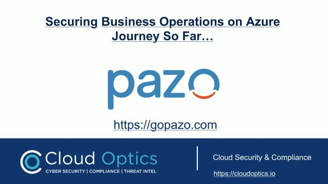 Addressing CloudSecurity For Enterprise SaaS - A Journey