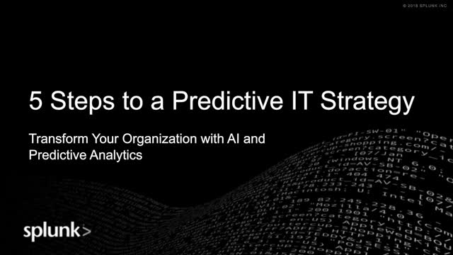 5 Steps to a Predictive IT Strategy to Achieve Mission Success