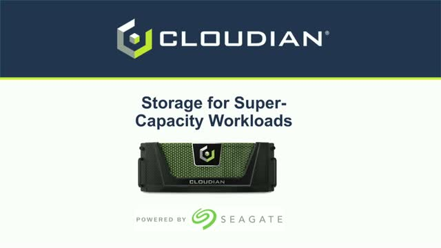 How Seagate/Cloudian Joined Forces to Save You 70% on Storage