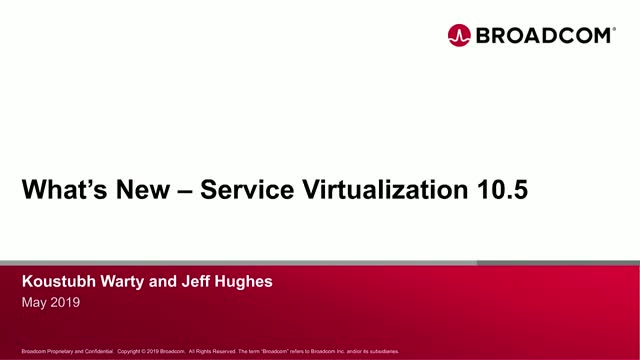 What's New with Service Virtualization 10.5?
