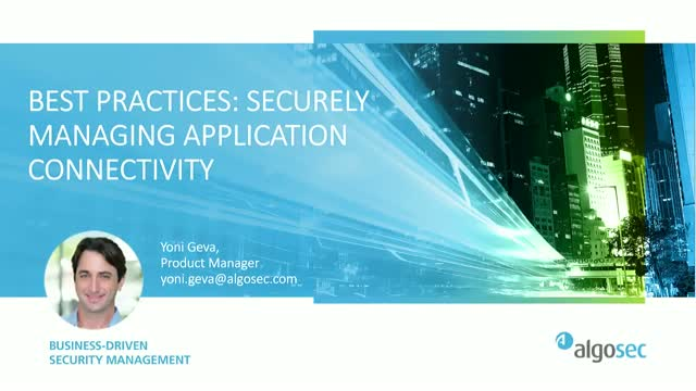 Application Visibility for Network Security Policy Management