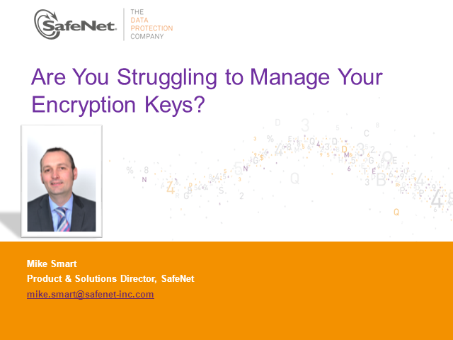 EMEA: Are you struggling to manage your encryption keys?