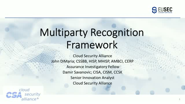 Reaching for the STAR (Part 3) - Multi-Party Recognition Framework Program