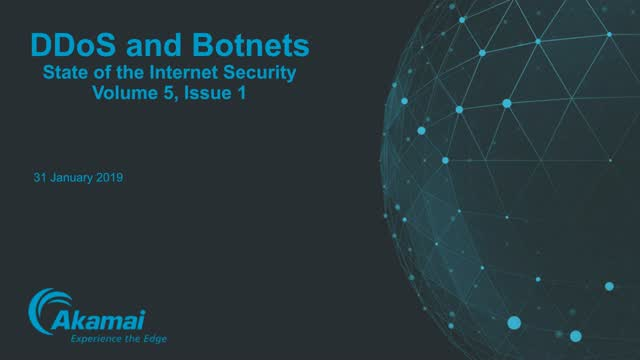 State of the Internet / Security: DDoS and Botnets