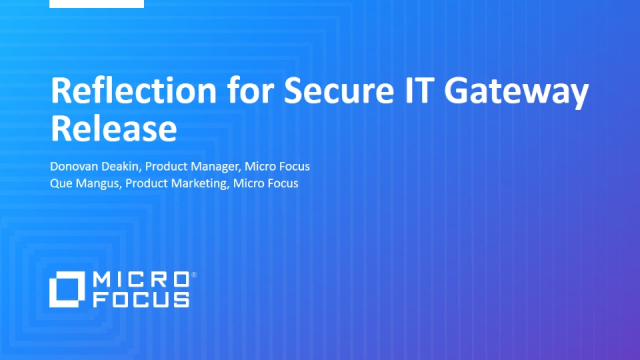 Reflection for Secure IT Gateway Release