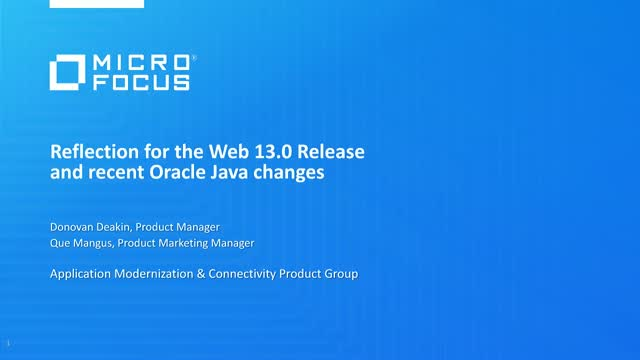 Reflection for the Web Release and recent Oracle Java changes