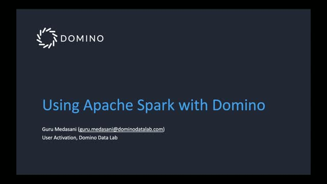 Working with Domino and Apache Spark
