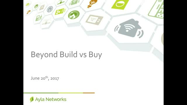 Internet of Things: Beyond Build vs. Buy