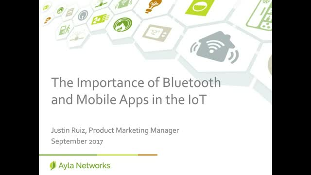 The Importance of Bluetooth and Mobile Applications in the IoT