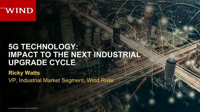 5G Technology: Impact to the Next Industrial Control Upgrade Cycle