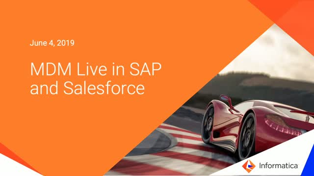 Informatica MDM Live in SAP and Salesforce