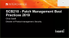 Patch Management Best Practices 2019