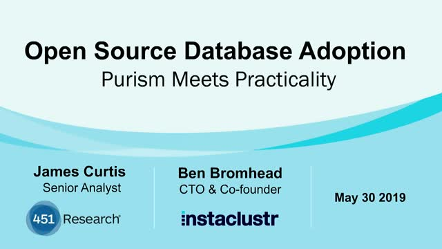 Open Source Database Adoption: Purism Meets Practicality