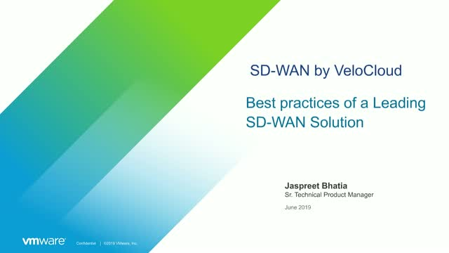 Best Practices of a Leading SD-WAN Solution