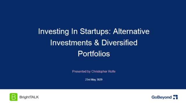 Investing in Startups: Diversified Portfolios & The Power of Networks