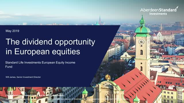 The dividend opportunity in European equities