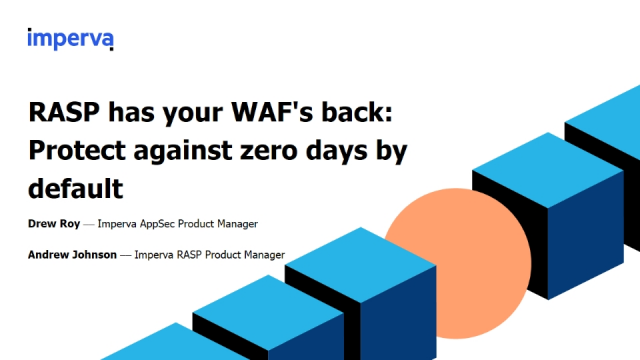 RASP has your WAF's back: Protect against zero days by default