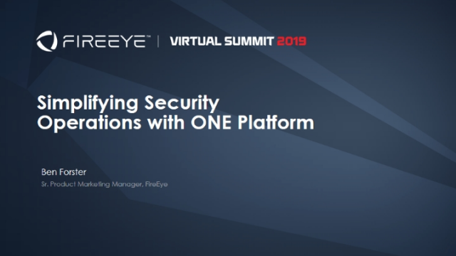 Simplifying Security Operations with ONE Platform