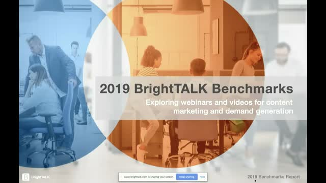 BrightTALK's 2019 Benchmarks Report