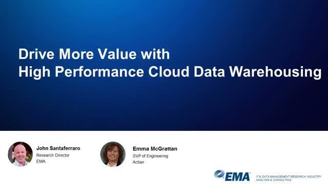 Drive More Value with High Performance Cloud Data Warehousing