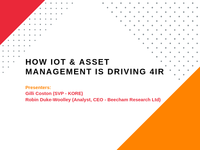 How IoT and Asset Management is Driving the 4th Industrial Revolution​