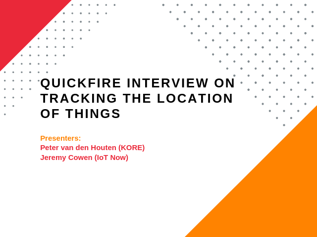 Quickfire Interview on Tracking the Location of Things