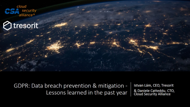 GDPR: Data breach prevention & mitigation - Lessons learned in the past year