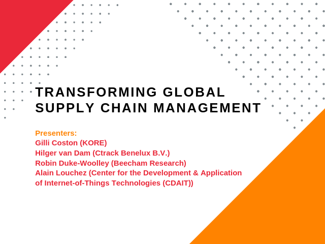 Transforming Global Supply Chain Operations