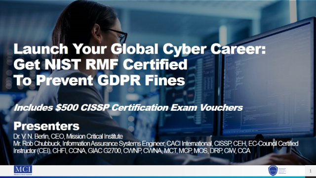 Launch Your Global Cyber Career: Get NIST RMF Certified to Prevent GDPR Fines