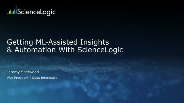 Getting ML-Assisted Insights & Automation with SL1