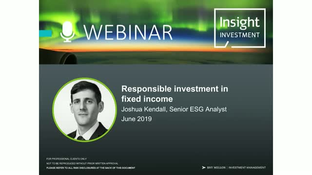 Investing responsibly in Fixed Income