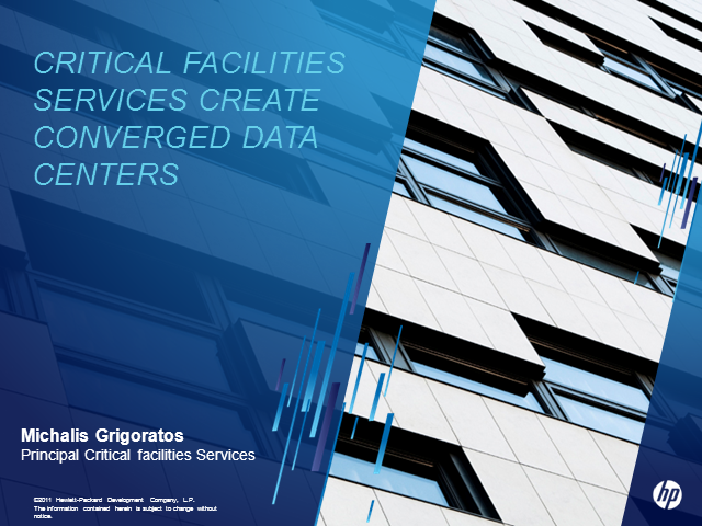 Critical Facilities Services - Creating Converged Data Centres