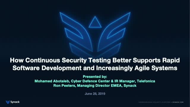 How Continuous Security Testing Better Supports Rapid Software Development