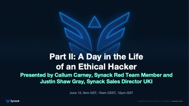 Part II: A Day in the Life of an Ethical Hacker, with Callum Carney, SRT Member
