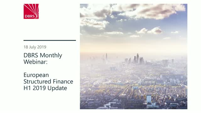 DBRS Webinar: Structured Finance H1 2019 Update
