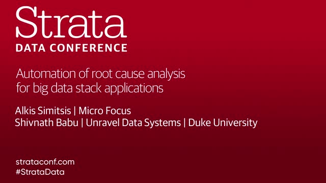 Automation of Root Cause Analysis for Big Data Stack Applications